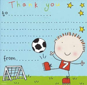 Football Thank You Note